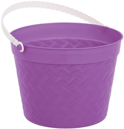 Purple Weave Bucket | Easter
