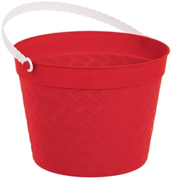 Red Weave Bucket | Easter