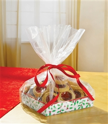 Holly Treat Tray w/Cello Bag | Party Supplies