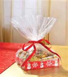 Snowman Treat Tray w/Cello Bag | Party Supplies