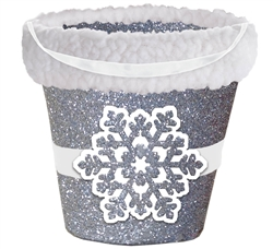 Snowflake Bucket w/Cello | Party Supplies