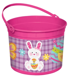 Girl Bunny Large Bucket | Party Supplies