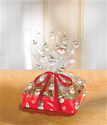 Snowman Large Treat Tray w/Cello Bag | Party Supplies