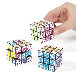 Plastic Day of the Dead Mini Magic Cube | Party Supplies
