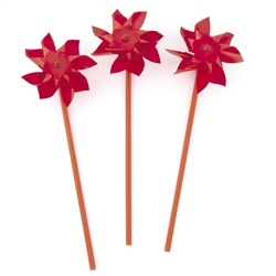 Red Pinwheels | Party Supplies