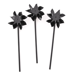 Black Pinwheels | Party Supplies