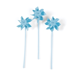 Light Blue Pinwheels | Party Supplies