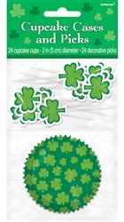 St. Patrick's Day Cupcake Cases and Picks | Party Supplies