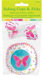 Spring Baking Cups & Picks | Party Supplies