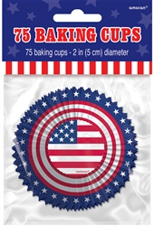 American Flag Baking Cups | 4th of July Party Supplies