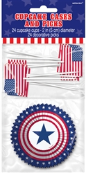 Cupcake Decorating Kit | Patriotic Party Supplies