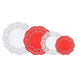 Red & White Doilies Multipack | Party Supplies