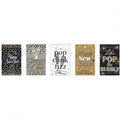 Happy New Year Bottle Labels | Party Supplies