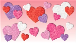 Valentine's Day Craft Hearts - Foam Glitter | Valentines supplies