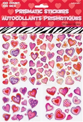 Valentine's Day Prismatic Stickers | Valentines Day Stickers