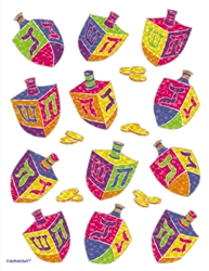 Hanukkah Dreidels Sheet Stickers | Party Supplies