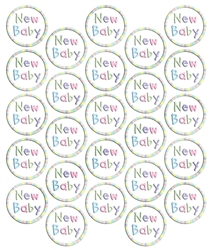 New Baby Metallic Seals | Party Supplies