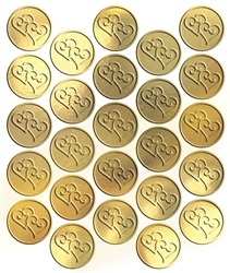 Gold Heart Metallic Seals | Party Supplies