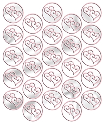 Pink Heart Metallic Seals | Party Supplies