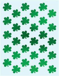 Metallic Shamrock Sticker Sheets | St. Patrick's Day supplies