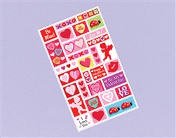 Valentine Printed Sticker Sheet | Valentines supplies