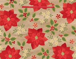 Kraft Poinsettia Medium Bags | Party Supplies