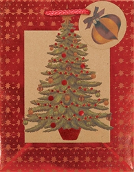 Kraft Seasonal Tree Small Bags | Party Supplies