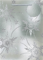 Silver Snowflake Deluxe Foil w/Glitter Extra Large Bags | Party Supplies