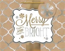 Kraft Merry & Bright Medium Bags | Party Supplies