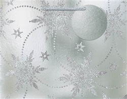 Silver Snowflake Deluxe Foil w/Glitter Medium Bags | Party Supplies