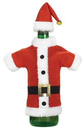 Santa Jacket & Hat Wine Bottle Cover | Party Supplies
