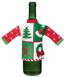 Ugly Sweater Wine Bottle Cover | Party Supplies