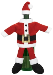 Santa Suite Wine Bottle Cover | Party Supplies