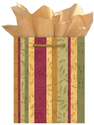 Merlot Stripe Medium Specialty Bags | Party Supplies
