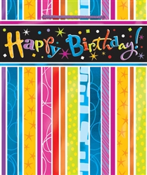 Party Stripe Medium Specialty Bags | Party Supplies