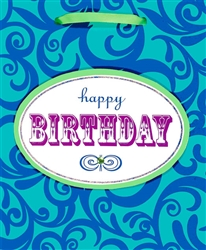 Birthday Scroll Medium Specialty Bags | Party Supplies
