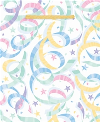 Pastel Streamers Small Glossy Bag | Party Supplies