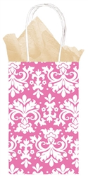 Pink Brocade Printed Cub Bags | Party Supplies