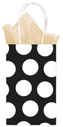 Black Dot Printed Cub Bags | Party Supplies