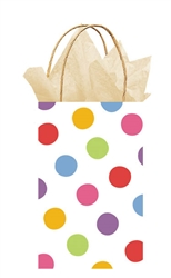 White w/Colored Dots Printed Cub Bags | Party Supplies