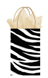 Black Zebra Stripe Printed Cub Bags | Party Supplies