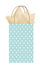 Light Blue Polka Dot Printed Cub Bags | Party Supplies
