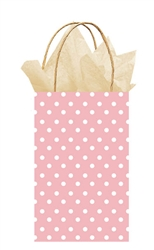 Light Pink Polka Dot Printed Cub Bags | Party Supplies