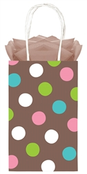 Chocolate Dots Printed Cub Bags | Party Supplies