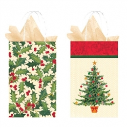 Nostalgic Christmas Petite Printed Paper Bag Assortment | Party Supplies