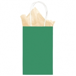 Green Cub Solid Kraft Paper Bags | Party Supplies