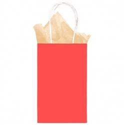 Red Cub Solid Kraft Paper Bags | Party Supplies