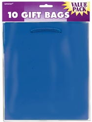 Royal Blue Solid Medium Value Pack Glossy Bags | Party Supplies