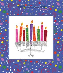Playful Menorah Glitter Bag - Medium Size | Party Supplies
