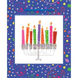 Playful Menorah Glitter Bag - Small Size | Party Supplies